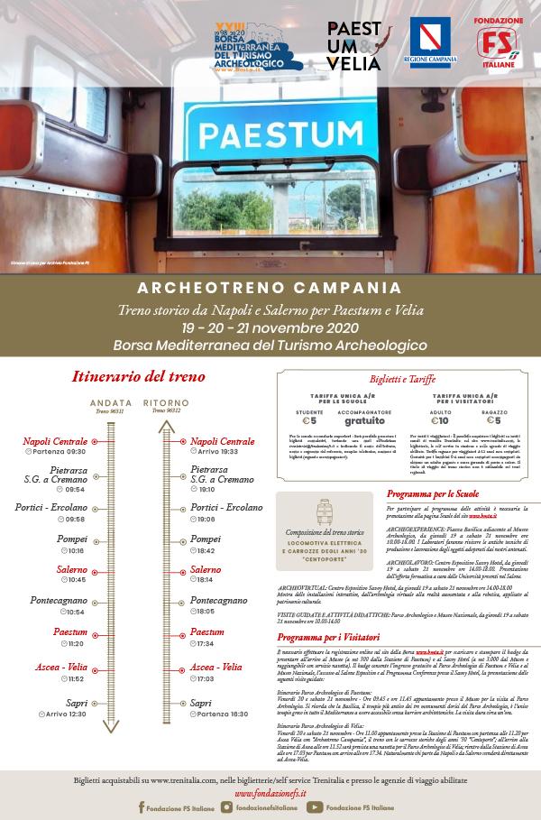 Archeotreno Campania da giovedì 19 a sabato 21 novembre