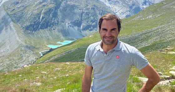 Roger Federer con Svizzera Turismo.