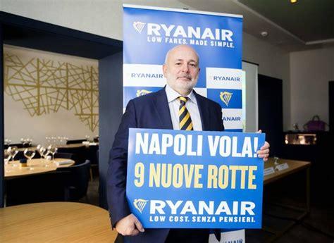 L'operativo di Ryanair per l'estate su Napoli