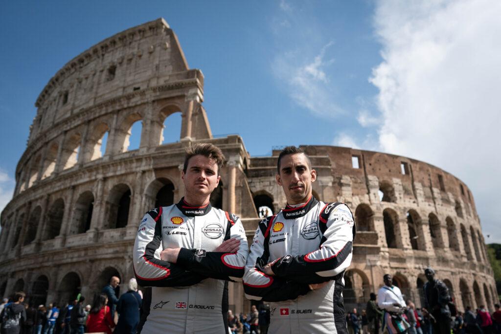 Il team Nissan e.dams a Roma