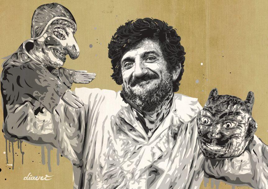 La street art di Diavù a Roma