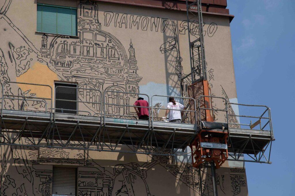 Czech Tourism richiama Praga con un murale a Milano