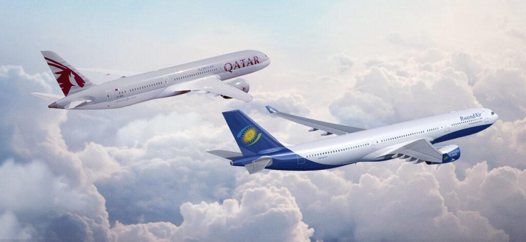 Partnership Qatar Airways e RwandAir