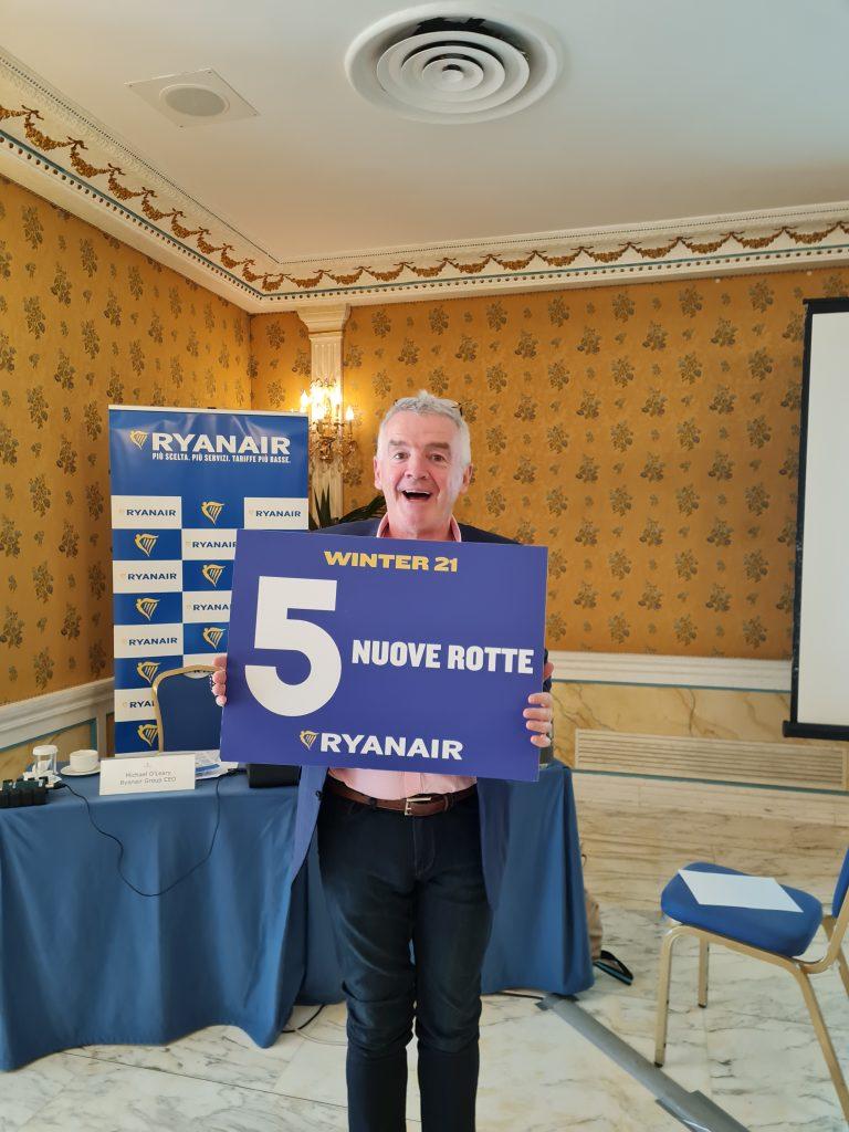 Nuove rotte Ryanair da Roma