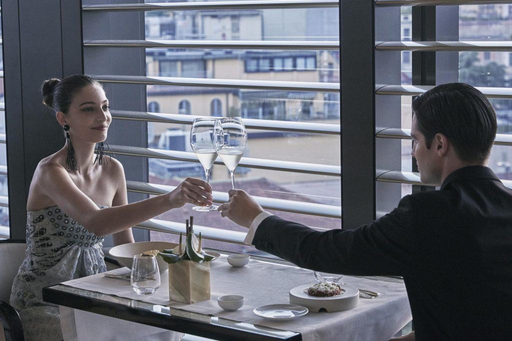 A cena da Armani/Ristorante al sapore autunnale